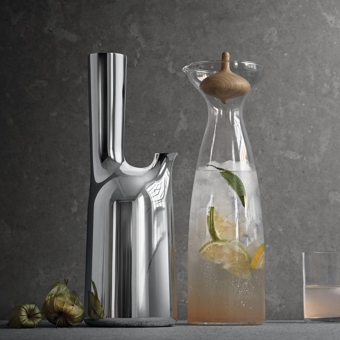 丹麥 Georg Jensen Alfredo Carafe艾爾菲雷多 玻璃水瓶