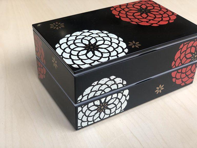 日本 HAKOYA 百華系列雙層多用便當盒-黑