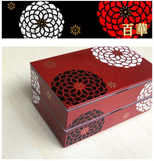 日本 HAKOYA 百華系列雙層多用便當盒-紅