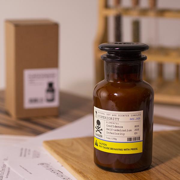 【 聖誕限定】賽先生科學工廠危險實驗室香氛蠟燭 -舒適圈