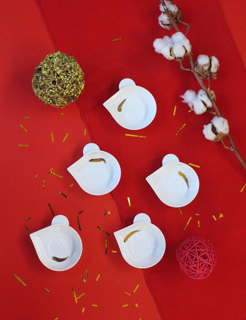 集瓷 cocera 鼠兒吱吱 醬油碟-花生
