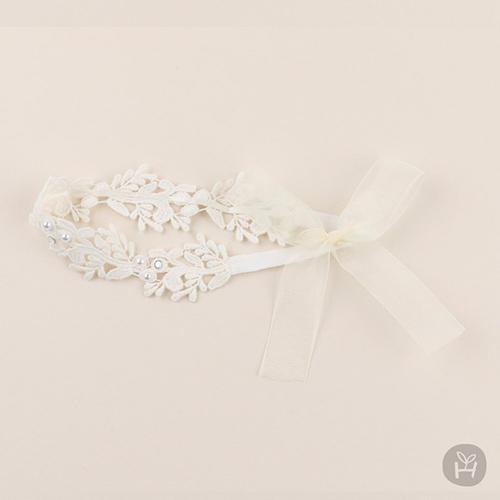 韓國 Happy Prince韓國製 Lilian小百合女嬰兒童蕾絲髮帶