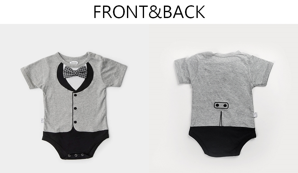 美國Frenchie MC 男嬰禮盒 - 貝嗑漢紳士版 (連身衣+圍兜) 9-12個月