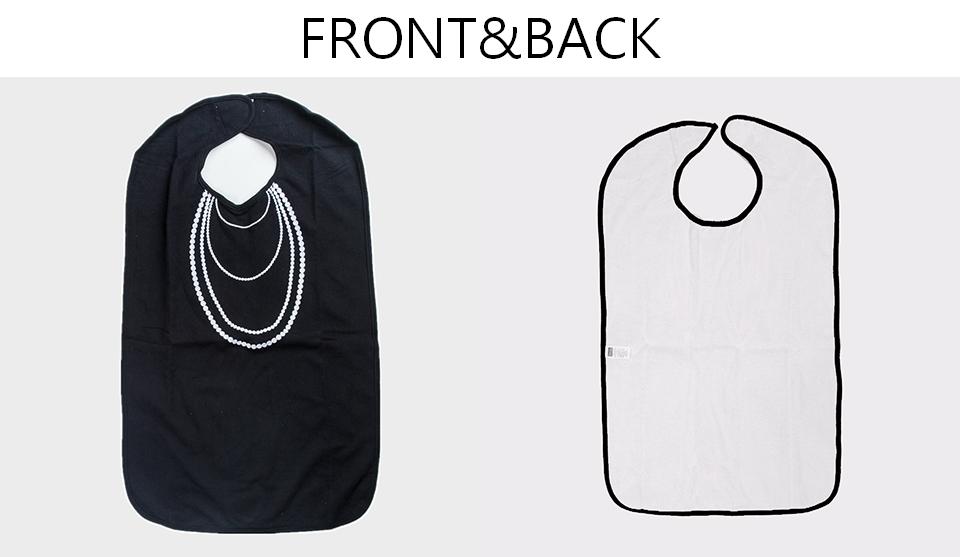 美國Frenchie MC 黑色珍珠項鍊成人防水圍兜禮盒