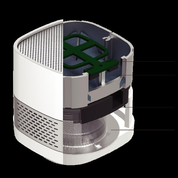 LUFT Cube無耗材空氣淨化器 黑金剛