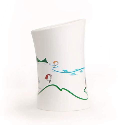 集瓷 cocera 宜蘭-蘭陽山海湧泉變色杯