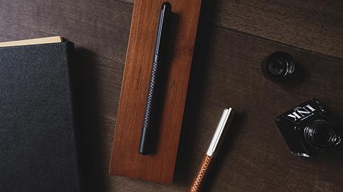 TA+d Weave 竹織鋼珠筆-燻竹黑