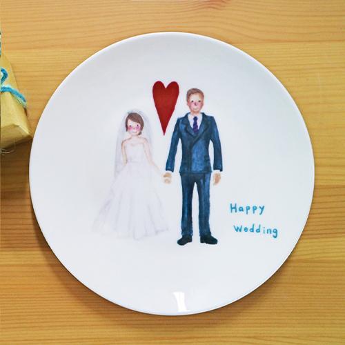 【客製化】陶緣彩瓷 我們要結婚了 骨瓷盤