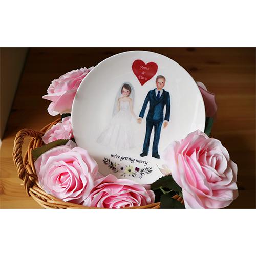 陶緣彩瓷 我們要結婚了 骨瓷盤