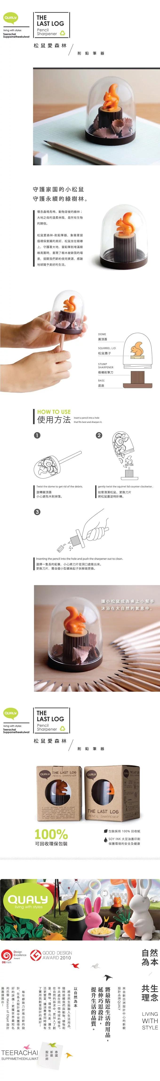 泰國 QUALY 松鼠愛森林-削鉛筆器