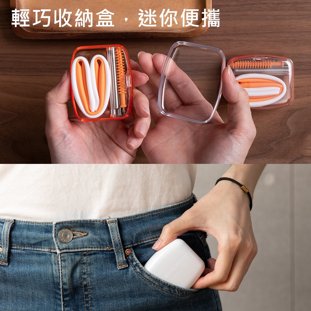 【2/18~3/18開學季95折優惠】InfoThink SUBA BOX 六合一環保吸管隨身盒(小小兵)