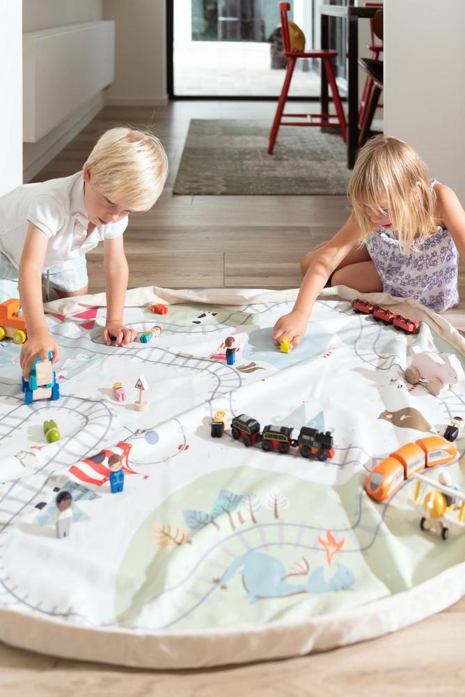 比利時 Play&Go 玩具整理袋-火車小旅行