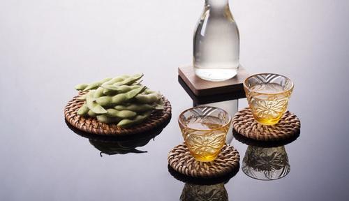 LIULI-LIVING(琉璃工房生活系列) 花間飲 酒杯(對杯)(琥珀色)