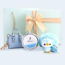 創意設計小物館<br />質感清新水藍套裝禮盒