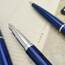 【可雷雕】美國 CROSS ATX 寶藍鋼珠筆 885-37