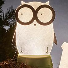 Xcellent LED 可愛夜燈時光派對 貓頭鷹