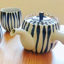 東京食器 KIHARA吳須染十草紋茶壺杯組