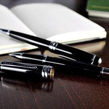 【可雷雕】美國 CROSS 貝禮系列 黑琺瑯鋼珠筆+原子筆禮盒