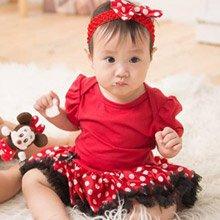 日安朵朵 女嬰精緻雪紡蓬裙連身衣禮盒組 俏皮M小姐(短袖款)(0-6個月)