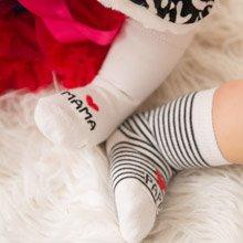 日安朵朵 我愛PAPA&MAMA 寶寶襪子組 0-6個月