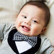 Frenchie MC 奧斯卡宴會寶寶禮盒組 (包屁衣 圍兜) 6個月