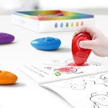 韓國館 歐姆寶無毒性兒童學習蠟筆 6入