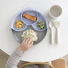 美國 Miniware 天然寶貝兒童學習餐具 聰明矽膠分隔盤(淺薰衣草)