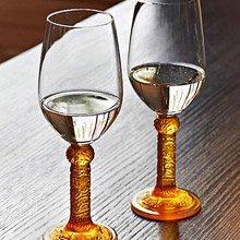 LIULI-LIVING花月對系列-紅/白葡萄酒酒杯  (琥珀色)