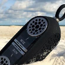 Ethne 美國 Knz GoDuo無線磁吸音響/透明主體(黑色矽膠套)