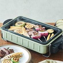 日本 recolte Home BBQ 電烤盤 貝殼綠限定款