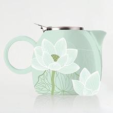 美國 Tea Forte 普格陶瓷茶壺 蓮花