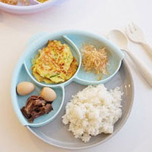 美國 Miniware 天然寶貝兒童學習餐具 分隔餐盤組(牛奶麥片+薄荷綠)