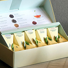 Tea Forte 10入金字塔絲質茶包 靜心蓮語