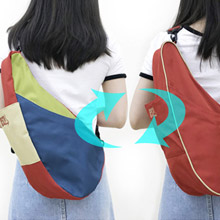 美國 HEALTHY BACK BAG 雙面水滴單肩側背包-S 彩色協奏