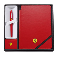 CROSS 法拉利 新世紀系列 筆記本禮品組 (紅鋼珠筆+法拉利紅中號筆記本)
