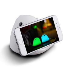創意設計小物館 七彩小魚拍拍夜燈+手機支架功能