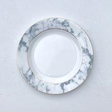 FMT<br />大理石紋金線圈骨瓷盤