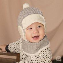 韓國 Happy Prince Harper保暖嬰兒童圍脖圍巾圍兜 灰色