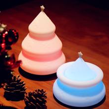創意小物館<br />聖誕樹七彩拍拍夜燈