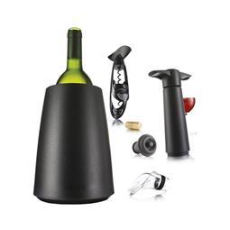荷蘭 VACU VIN 品酒抽真空7件組(黑)