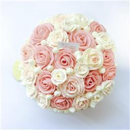 Felicitas Pâtissérie 6吋粉色玫瑰蛋糕