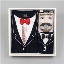 <span class=cutoff>Frenchie MC 超級小紳士禮盒組 (紅領連身衣 圍兜 奶嘴) 連身衣 (...</span>