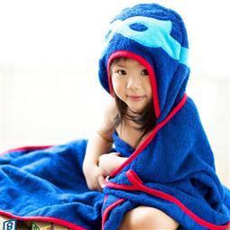 Frenchie MC 超級英雄 Superhero 披風式兒童浴巾