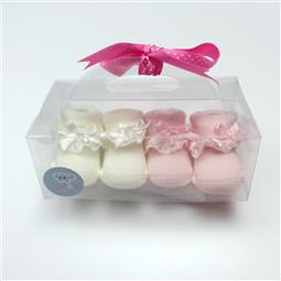 日安朵朵 小公主蕾絲 寶寶襪子禮盒組 (0-6個月適穿)