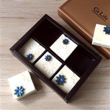 Gs Life 珍珠花兒‧六入方塊巧克力香皂禮盒