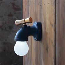 創意設計小物館 水龍頭夜燈 黑色