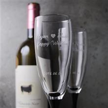 MSA【手工雕刻】Je taime法國婚禮 黑天鵝香檳對杯