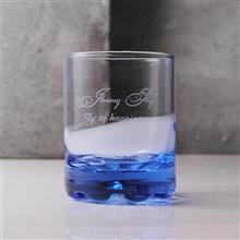 MSA 【手工雕刻】深海藍義大利威士忌杯-藝術字型簽名版