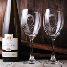 MSA【手工雕刻】夫妻肖像寫實版紅酒對杯組