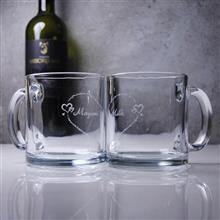 MSA【手工雕刻】耐熱玻璃馬克對杯組-有你才完整